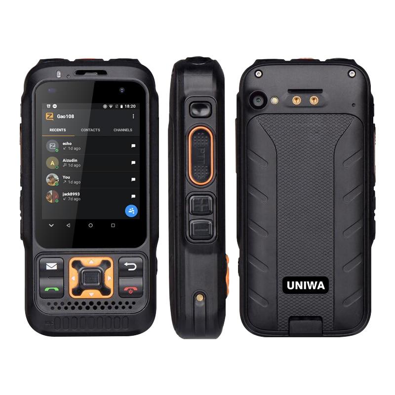 Dual Version Zello Walkie Talkie Mobile Phone FDD-LTE 4G GPS Smartphone 1GB+8GB Android 8.1 Quad Core Dual Camera UNIWA F30S
