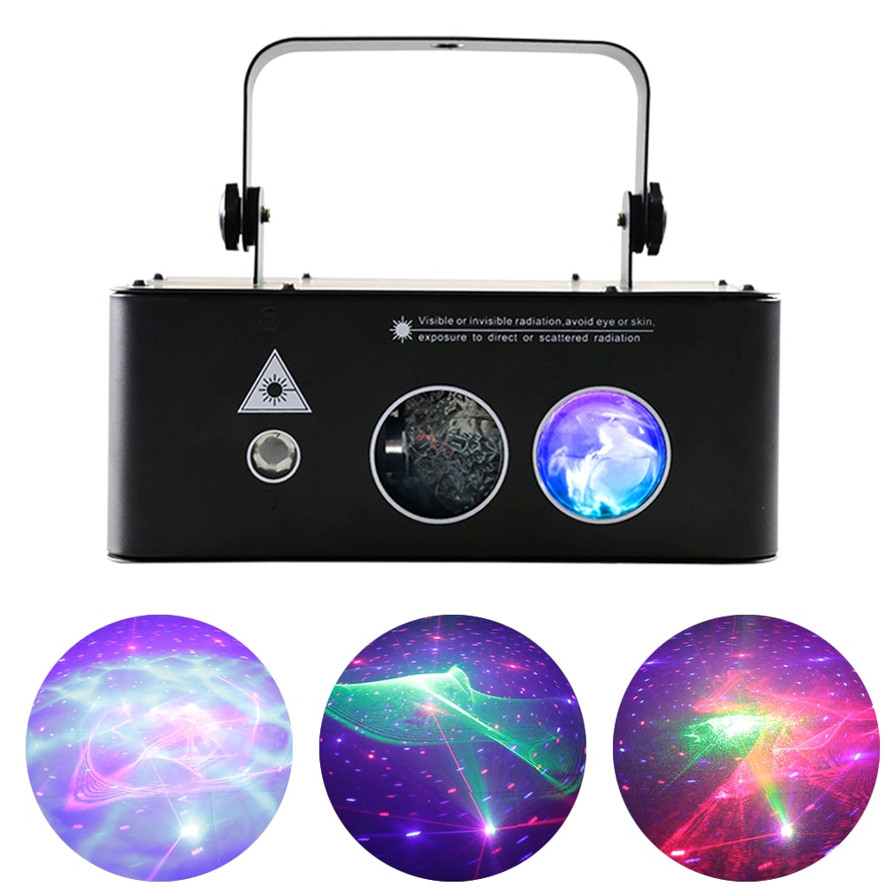 Mini RGB 3IN1 Pattern Projector Christmas Lights Laser Scanner light Family Party Bar DJ Disco DMX512 Control Stage Effect Light