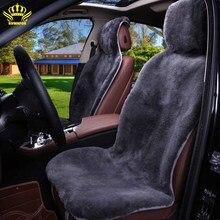 Capes en fourrure de 100% pièces   Accessoires de siège de voiture, housses de siège universels de voiture en fourrure de Mouton, de qualité supérieure pour sandero