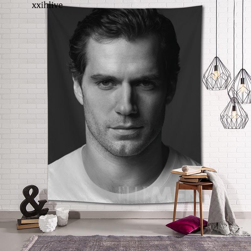 Известный актер Генри кавилл гобелен настраиваемый богемный настенный комнатный ковер HD гобелены искусство аксессуары для украшения дома