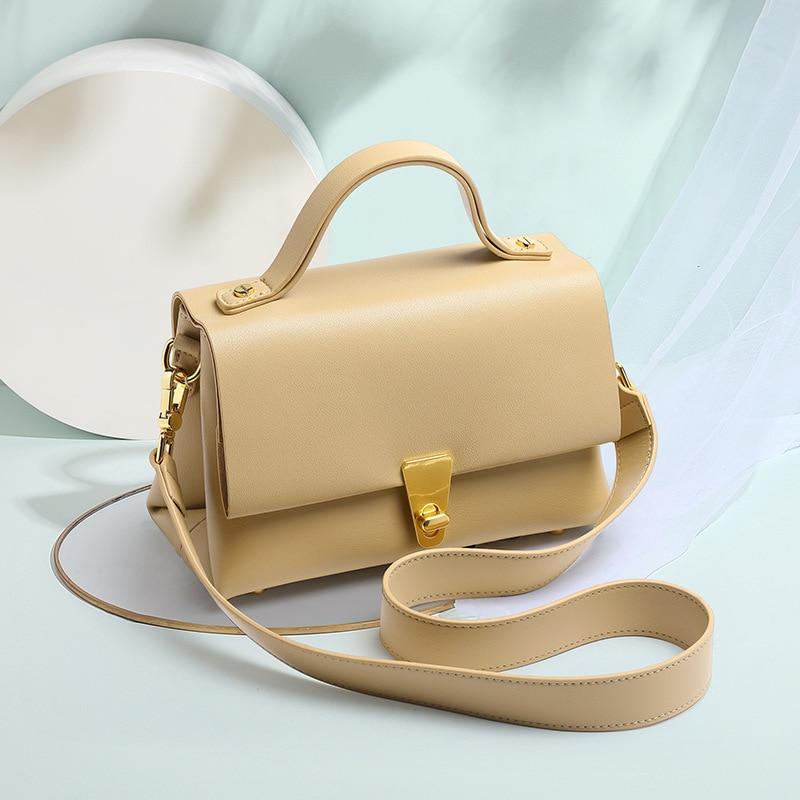 Famous design Genuine leather Ladies handbags double-layer underarm bag fashion shoulder bag women'