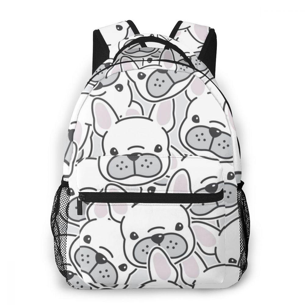 OLN-حقائب ظهر مدرسية للأطفال ، حقيبة مدرسية للأولاد ، كلب بولدوج فرنسي ، وجه جرو ، رأس كلب ، حقيبة مدرسية للمراهقين ، حقائب كتب للطلاب
