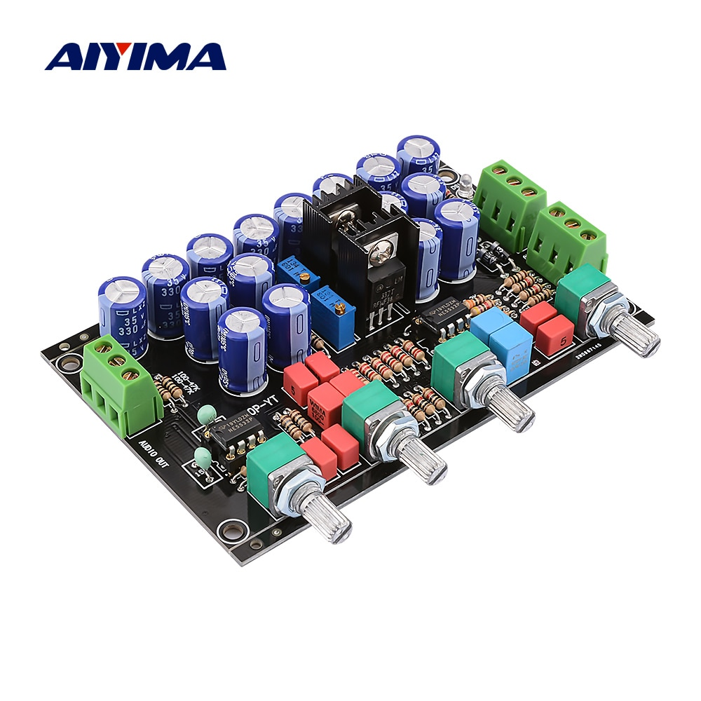 AIYIMA Hifi Preamp Tone Board NE5532 OP AMP Tone преусилитель регулятор громкости DIY для усилителя мощности аудио Плата двойной AC12V-22V