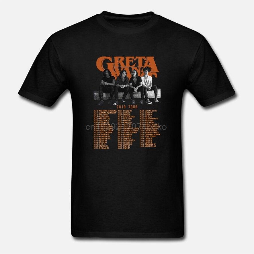 Nuevo GRETA VAN FLEET TOUR 2018 camiseta negro tamaño S-4XL camiseta para mujer (2)