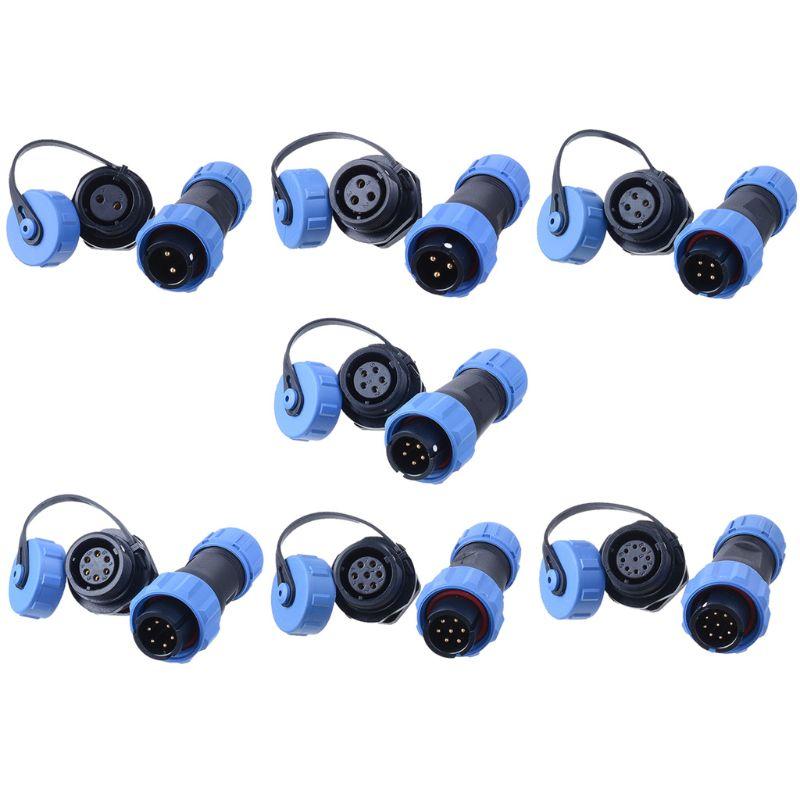 1 par de conector impermeable SP13 IP68 conector de cable enchufe y enchufe macho y hembra 2 Pin/3Pin/4Pin/5Pin/6Pin/7Pin/9Pin