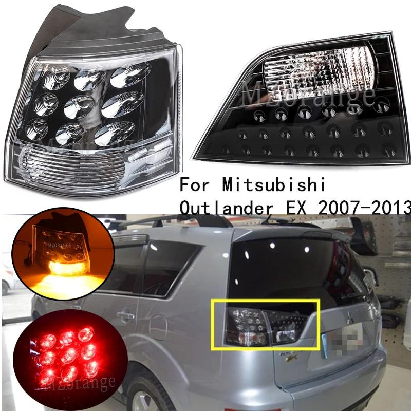 ضوء خلفي للسيارة لميتسوبيشي أوتلاندر EX 2007-2013 ، المصد الخلفي الأيمن والأيسر ، ضوء الفرامل الخلفي