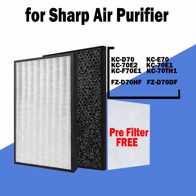 sharp air purifier filter kc a50jw kc a51r b hepa filter fz a51hfr actived carbon filter fz a51dfr filter for humidifier parts Hepa Filters Actived Carbon Deodorizing Water Humidifier Filter Air Humidifier for Sharp Air Purifier KC-D70, KC-E70, KC-F70