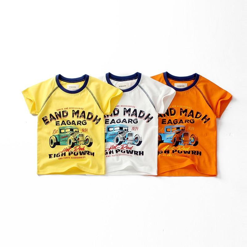 Новинка 6805 года; Модная летняя хлопковая детская футболка для маленьких мальчиков с рисунком динозавра; Детская верхняя одежда; Детская одежда топы для девочек и мальчиков