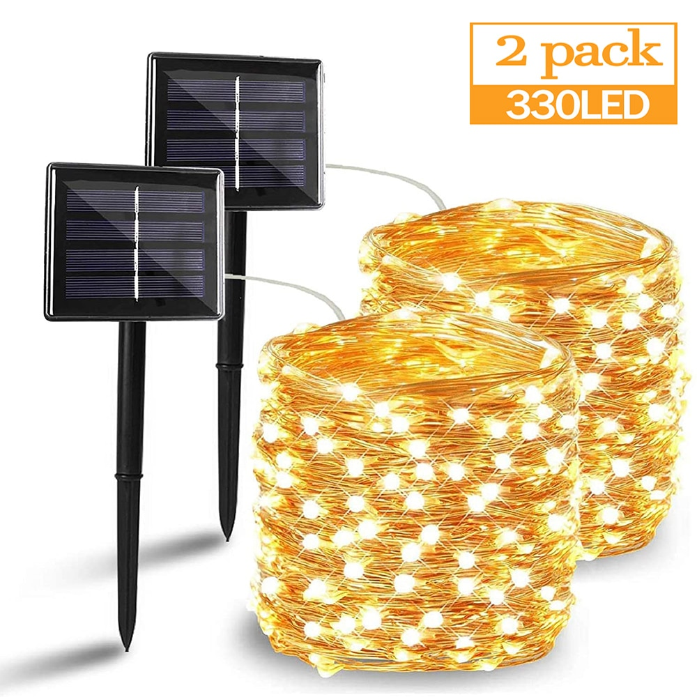 50/100/200/330 LED Solar Light Outdoor Lamp String Lights For Holiday Christmas Party Waterproof Fairy Lights Garden Garland