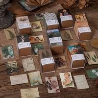 100pcs antique collection book craft paper junk journal vintage mini material paper diary album scrapbooking material supplies