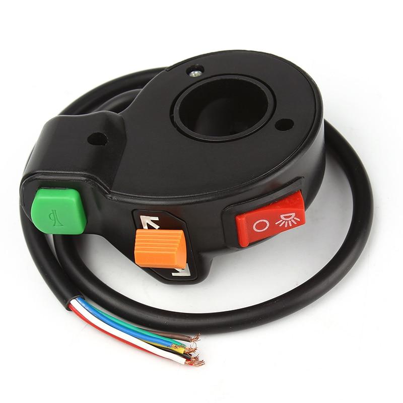 LEEPEE 3 en 1 faros universales/luces de señal de giro/interruptor de encendido-apagado de bocina motocicleta Scooter Dirt ATV interruptor de manillar 7/8 pulgadas