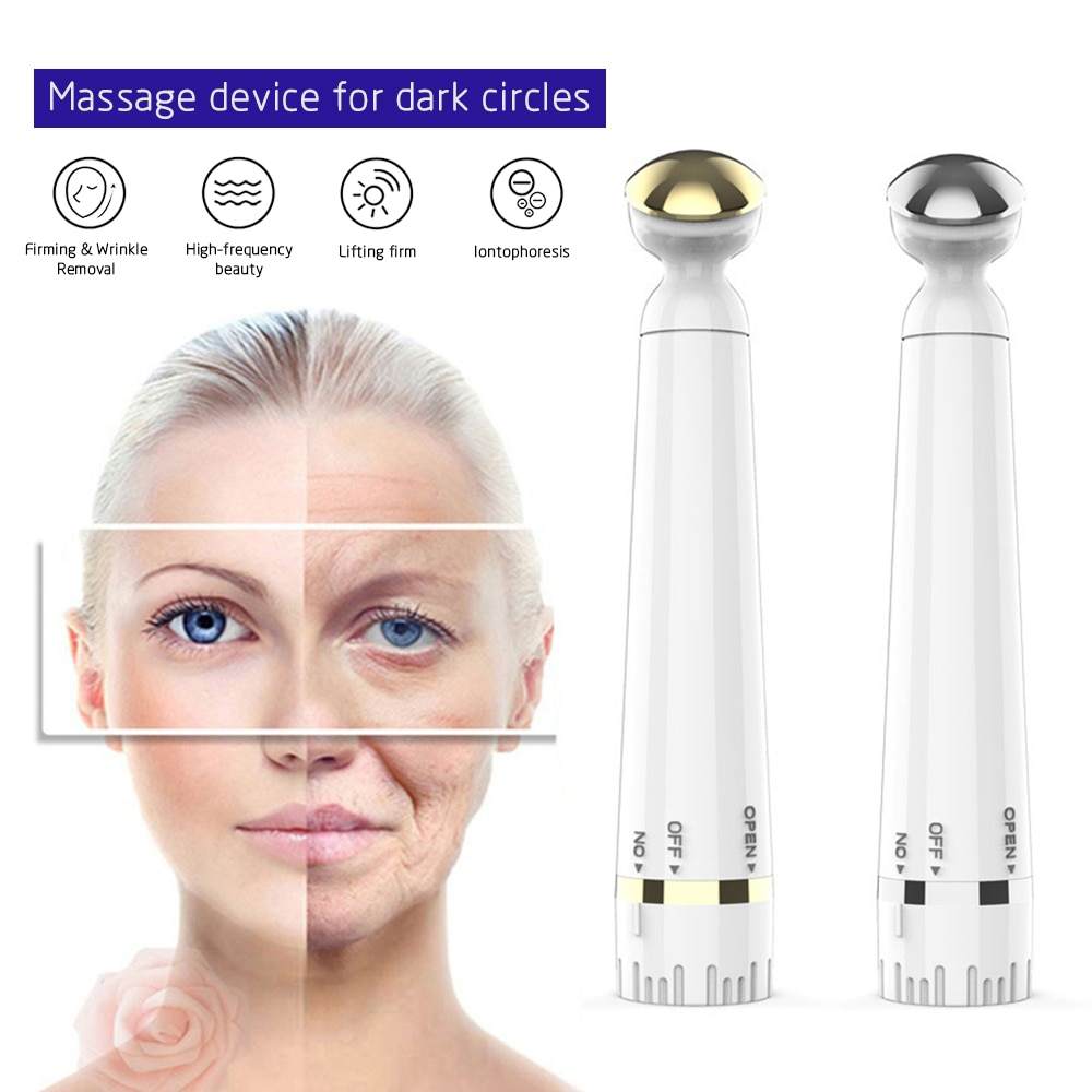 Mini Portable Electric Eye Massage Pen Device Dark Circle Facials Vibration Thin Face Magic Stick Anti-Ageing  Wrinkle Massage