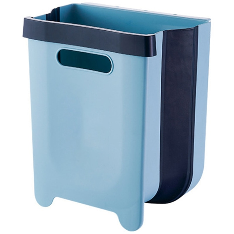 Lata de lixo compacta pequena anexada ao desperdício do carro da cozinha da porta do armário bi