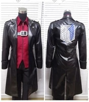 hot anime attack on titan rivailleeren jager cosplay costumes trench coat uniform suit male role play clothing costume make any
