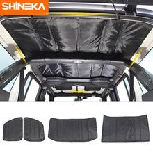 SHINEKA coussin disolation thermique pour Jeep Wrangler Sahara JL 2018 + Kit disolation de toit de toit rigide pour Jeep Wrangler JL 2019