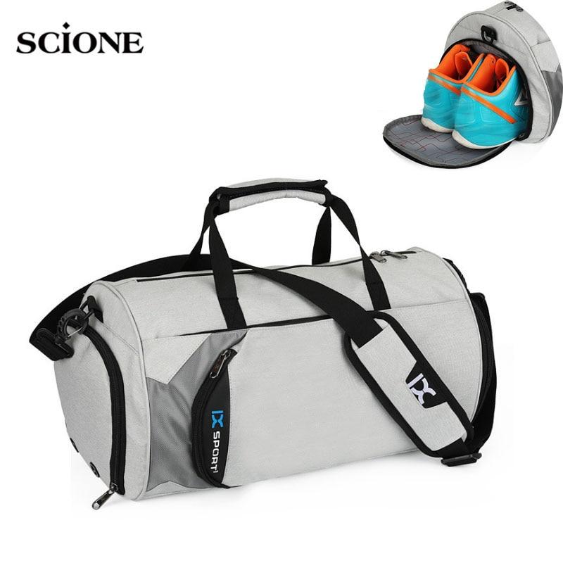 Men Gym Bags For Training Bag Tas Fitness Travel Sac De Sport Outdoor Sports Swim Women Dry Wet Gymtas Yoga Shoes Bag XA103WA