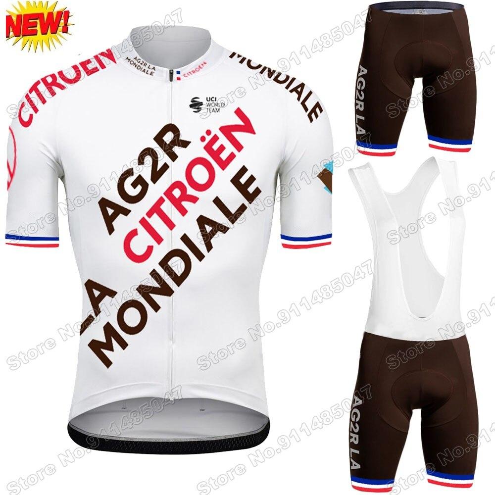 Conjunto de Jersey de ciclismo francés para hombre, Ropa de verano, camisetas...