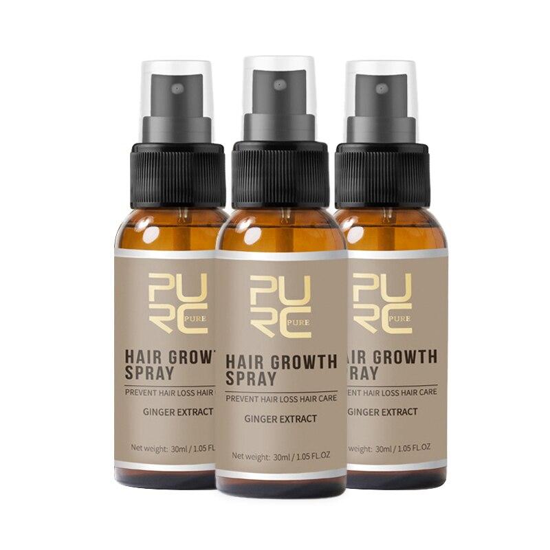 Nuevo 30ml Anti prevenir la pérdida de cabello protege las fibras del cabello PURC Spray de crecimiento de cabello para hombres TSLM1