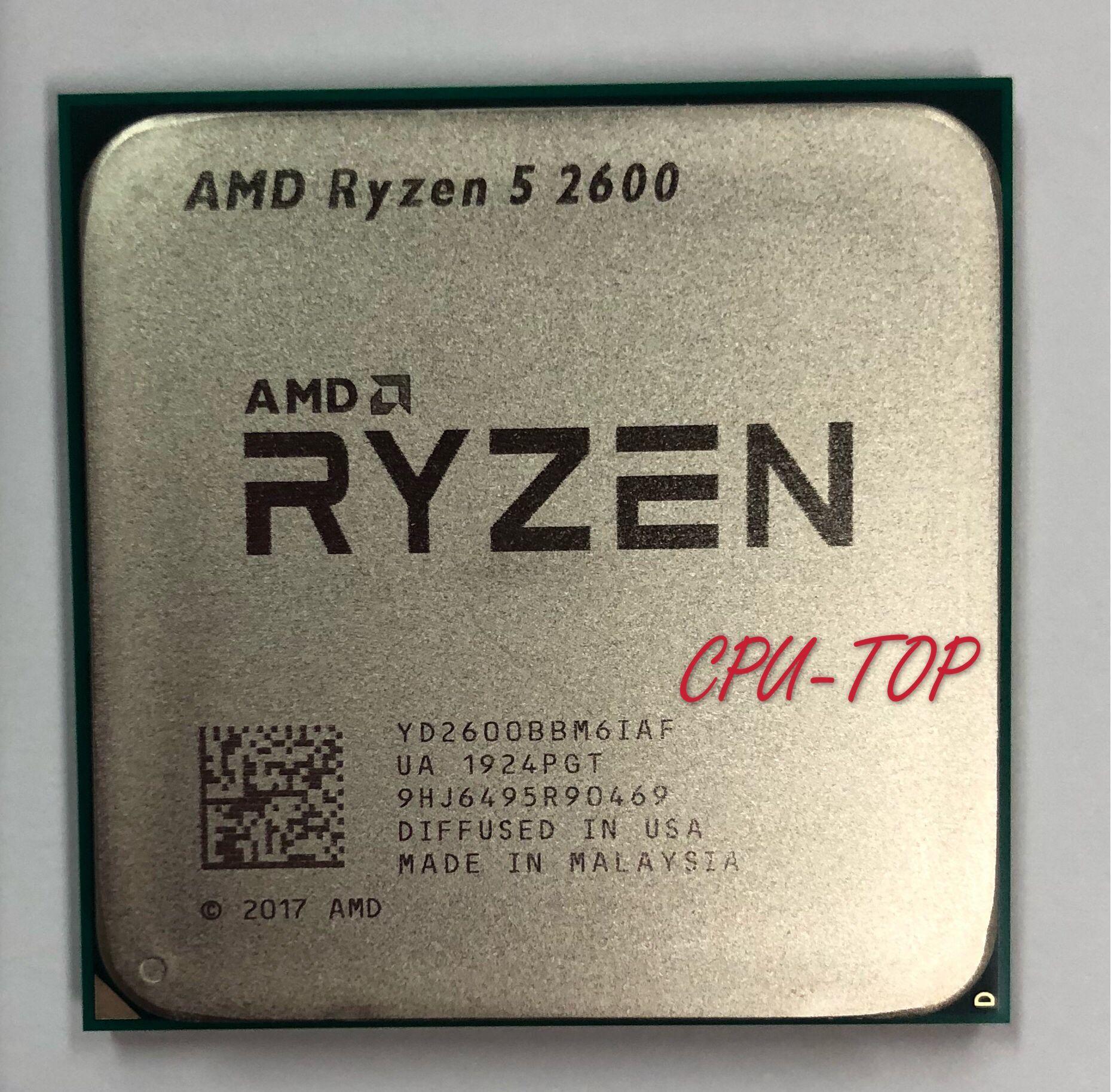 AMD Ryzen 5 2600 R5 2600 de 3,4 GHz Six-Core 12-65 W CPU procesador YD2600BBM6IAF hembra AM4