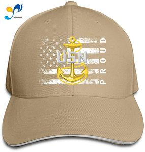 Navy Chief Petty Officer (CPO) Proud American Men Classic Outdoor Casquette Peak Cap