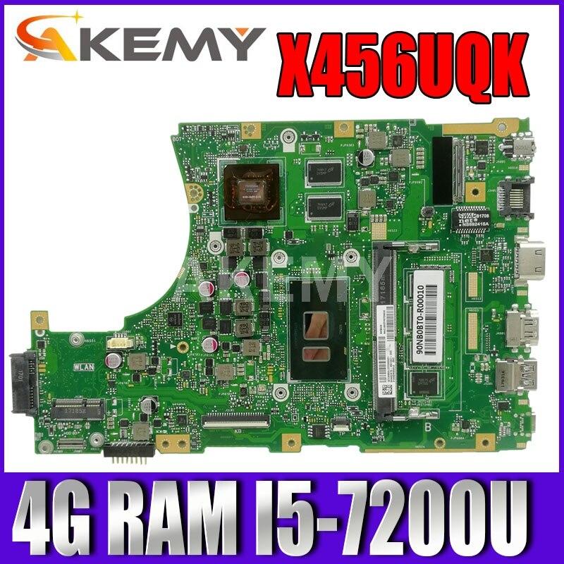 اللوحة الرئيسية الجديدة X456UQK لأجهزة الكمبيوتر المحمول ASUS X456UVK X456UQK X456UB X456UJ F456U X456UV A456U اللوحة الأم 4G / I5-7200U GT930M / GT940M