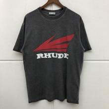 Best Quality RHUDE Tee Men Women Collaboration Limited Oversized T Shirts Hiphop Rhude T-Shirt Men