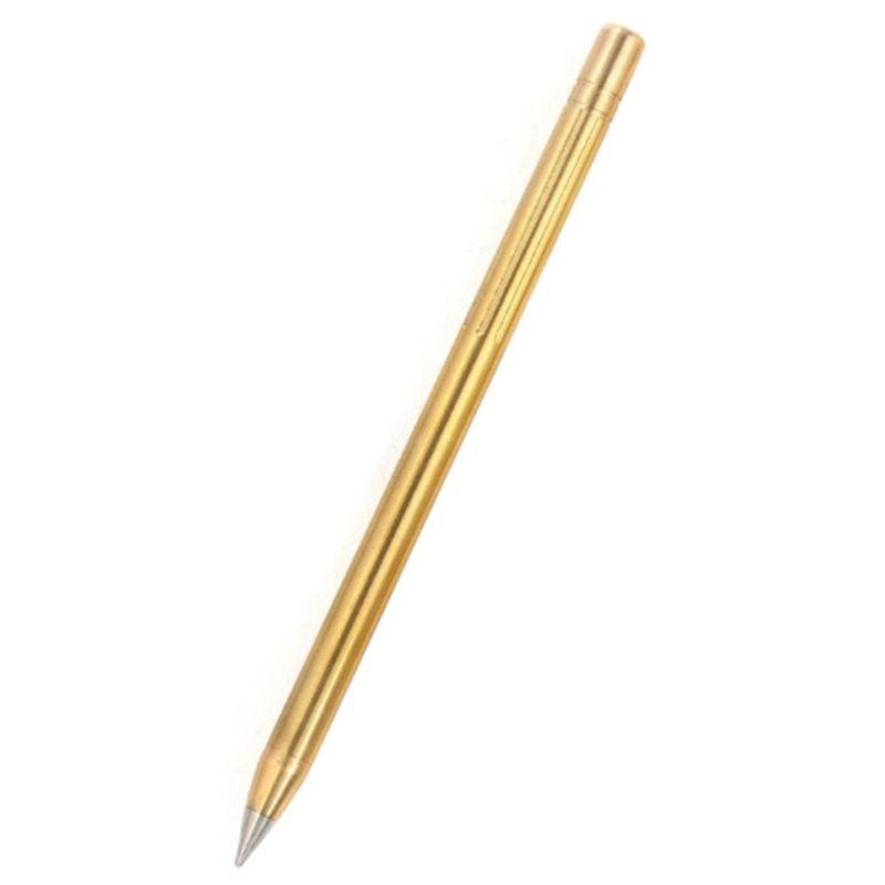 1 PC plein air voyage crayon rétro laiton sans encre métal stylo Portable stylet créatif Gif