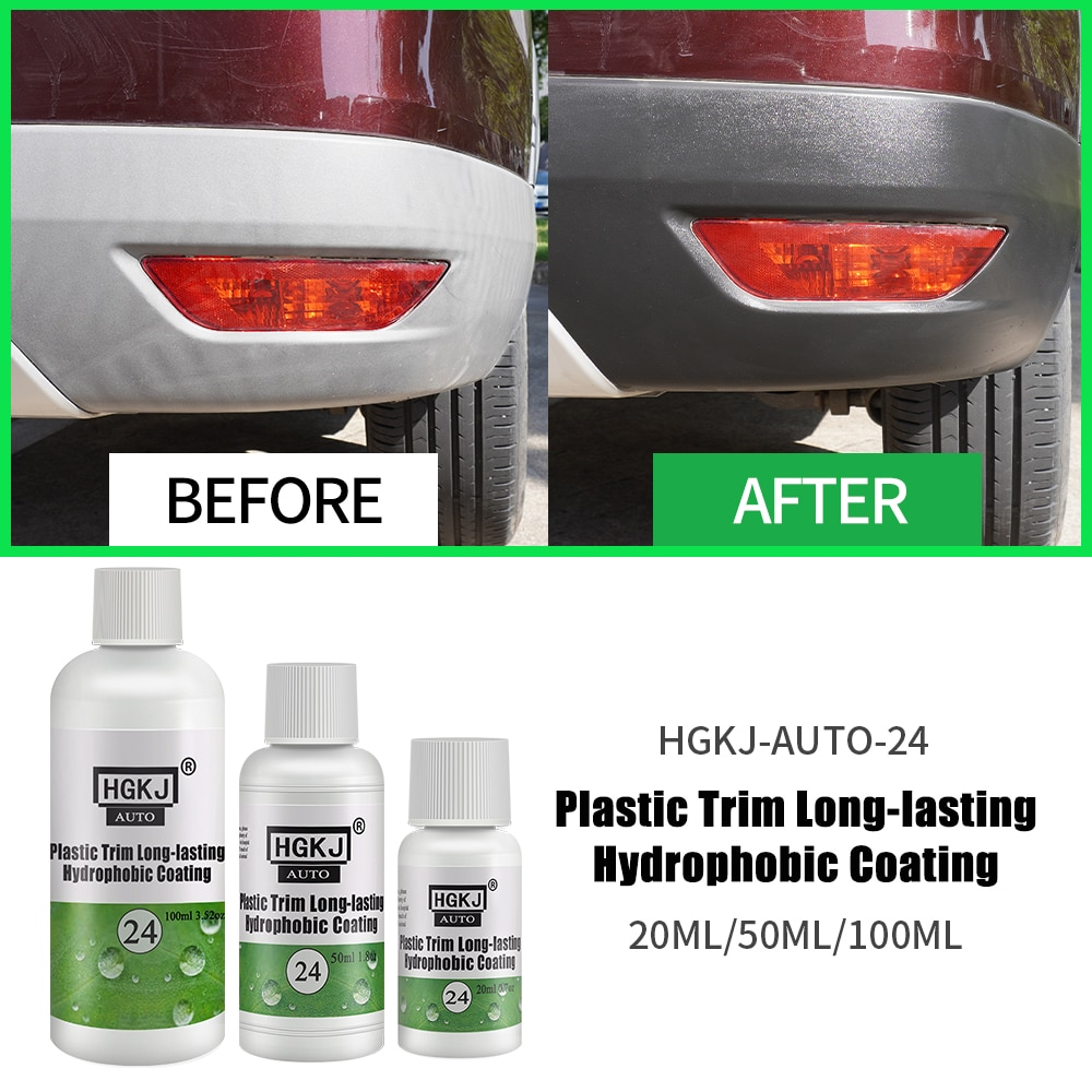 HGKJ Plastic Trim Long-lasting Hydrophobic Coating Agent Car Accessries Refurbished Liquid New 2021