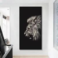 Peinture sur toile danimaux HD  Art mural moderne  Lion  mode abstraite  affiche imprimee  decor de maison  decoration de chambre a coucher