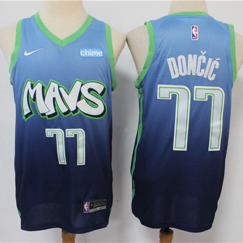 La NBA de los hombres Dallas Mavericks #77 Luka Doncic Jersey de...