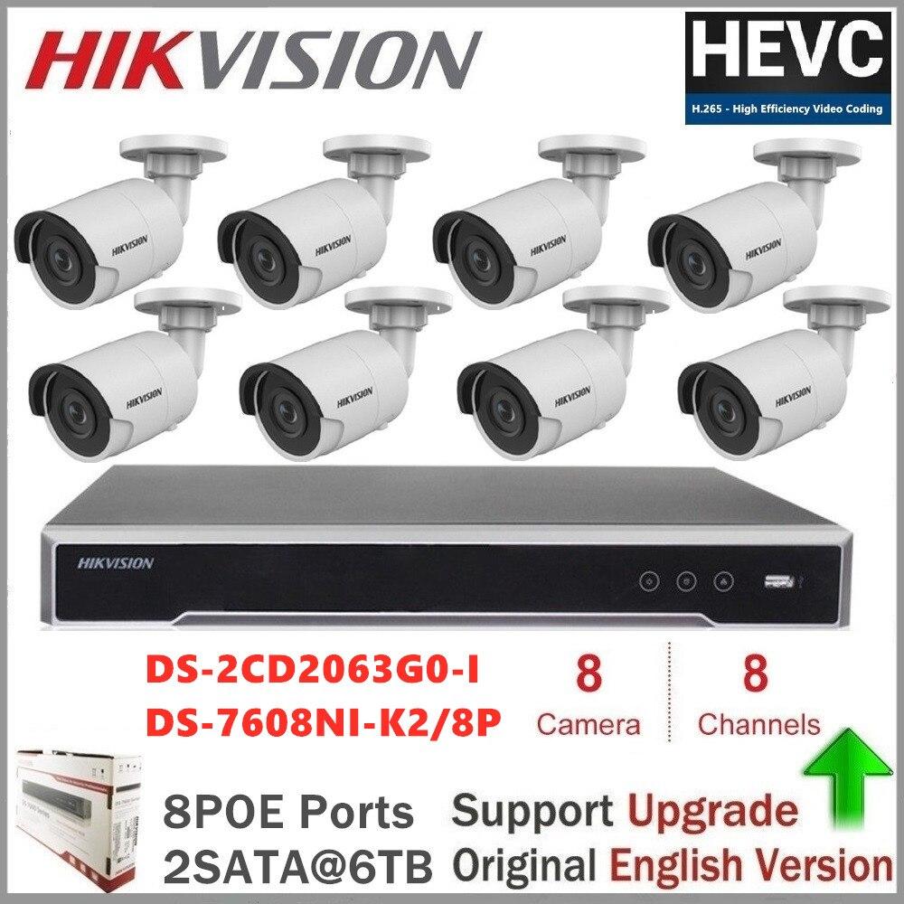 Hikvision-sistema de cámaras de seguridad, cámara IP de 6MP, Kit de videovigilancia,...