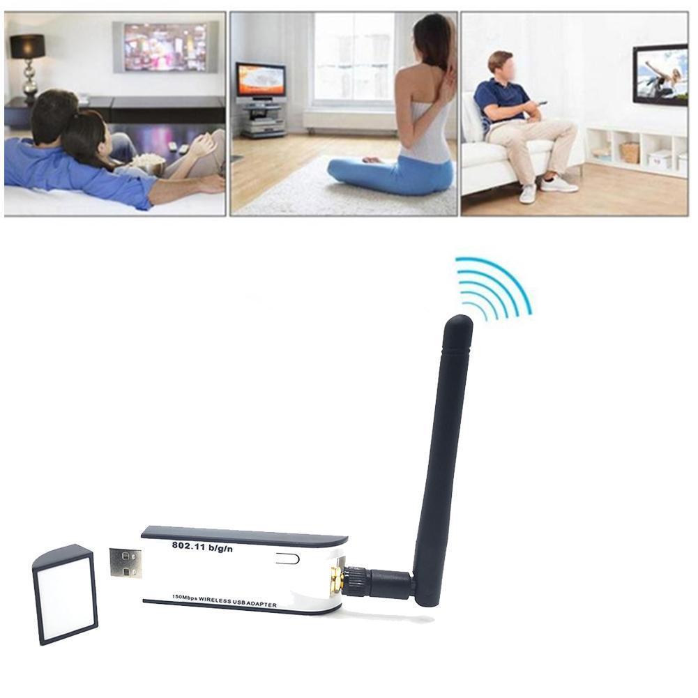 Новый Wi-Fi USB адаптер RT3070 150 Мбит/с USB 2,0 Wi-Fi беспроводной с 802.11n сетевая карта адаптер Антенна внешняя M5H9