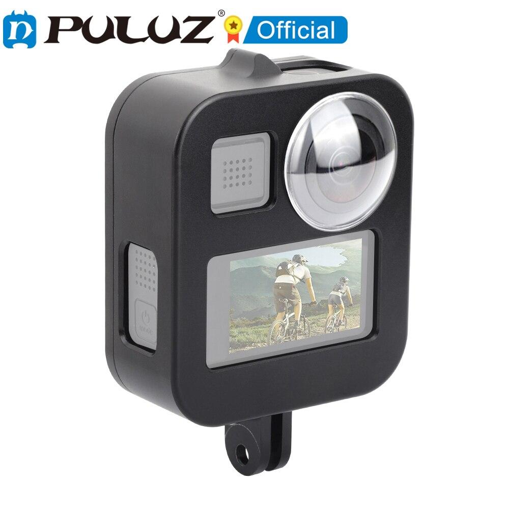 PULUZ-قفص واقي من سبائك الألومنيوم CNC لـ GoPro Max (أسود)