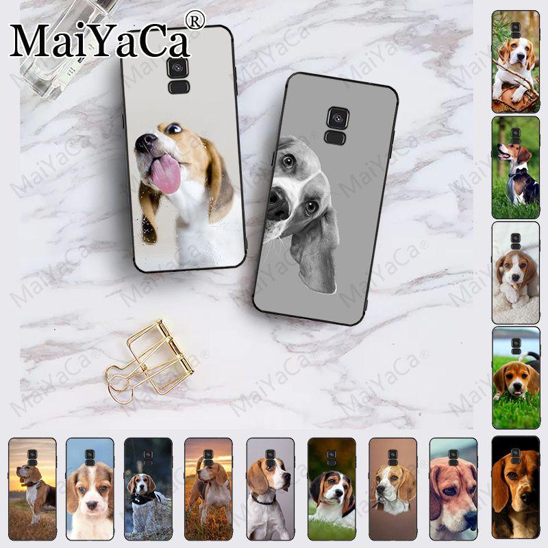 Beagle dog cute Dog silicone Cover Black Soft Shell Phone Case For samsung Galaxy A10 A8 A6 A10s A9 A30 A50 A70 Coque Shell