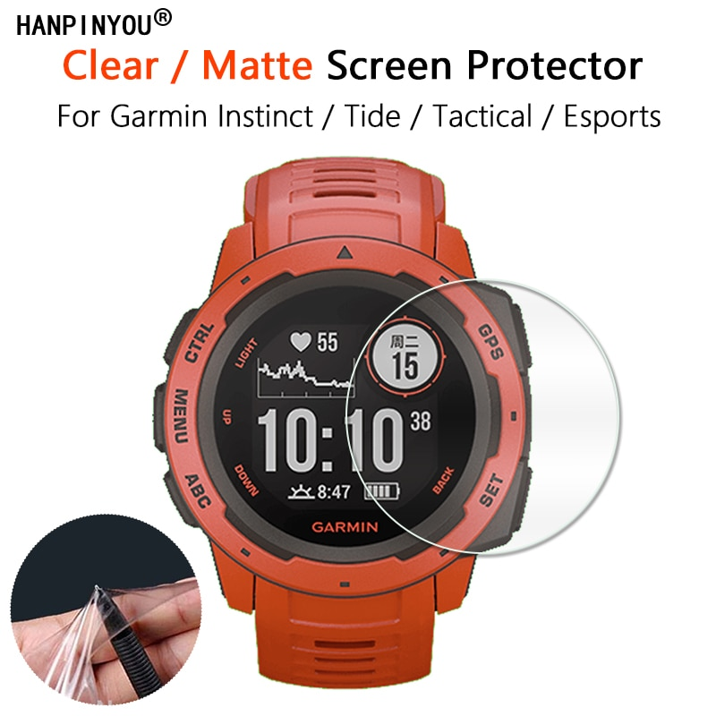 For Garmin Instinct Tide Tactical Esports Watch Ultra Clear Glossy / Matte Screen Protector Soft Slim Film -Not Tempered Glass