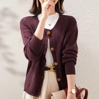 loose large size womens cardigan round neck knit bottoming shirt korean lazy style all match blouse2021 spring autumn new hot