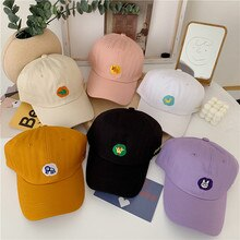 Korean Preppy Cute Animal Embroidered Baseball Cap Female Soft Top Ins Japanese Style Students Summe