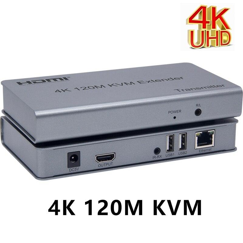 Extensor KVM 4K 120M HDMI, Cable convertidor TX RX compatible con ratón...