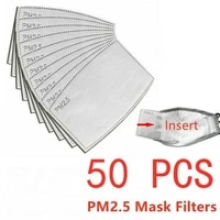pm2 5 replaceable protection filter 50100pcs activated carbon filter 5 layer non woven covers mouth nose eyeshade