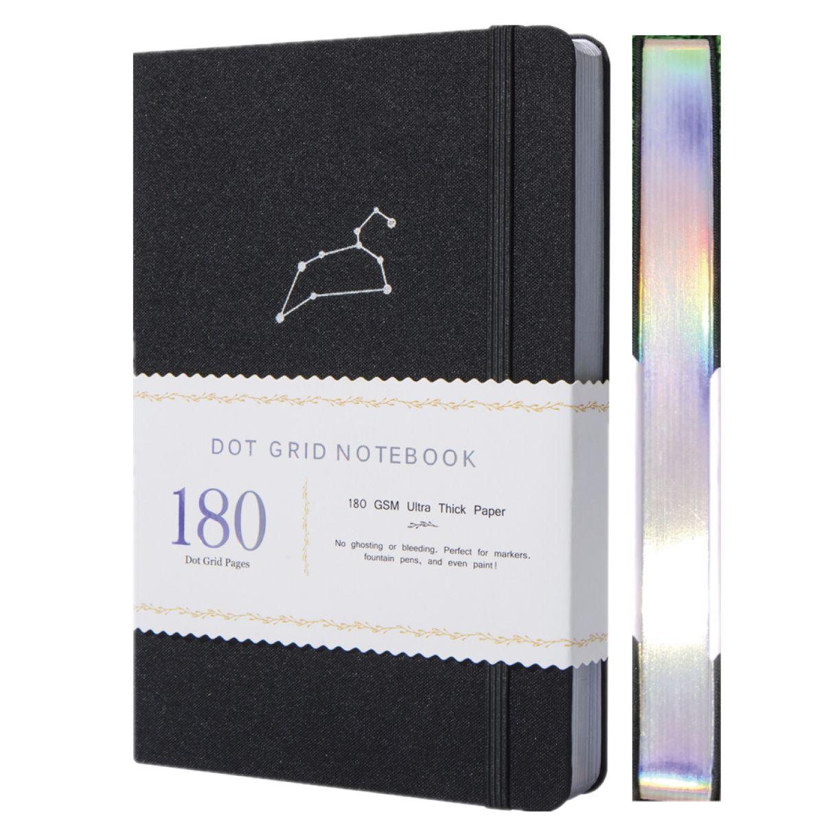 A5 Зодиак Лев точка блокнот в сетку пунктовый журнал 160 г/кв. М бамбуковая толстая бумага страниц 5*5 мм точка-коробка в подарок