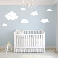 bedroom nursery cartoon cute sticker white clouds wall stickers baby wallpaper home decor for kids room decorative baby