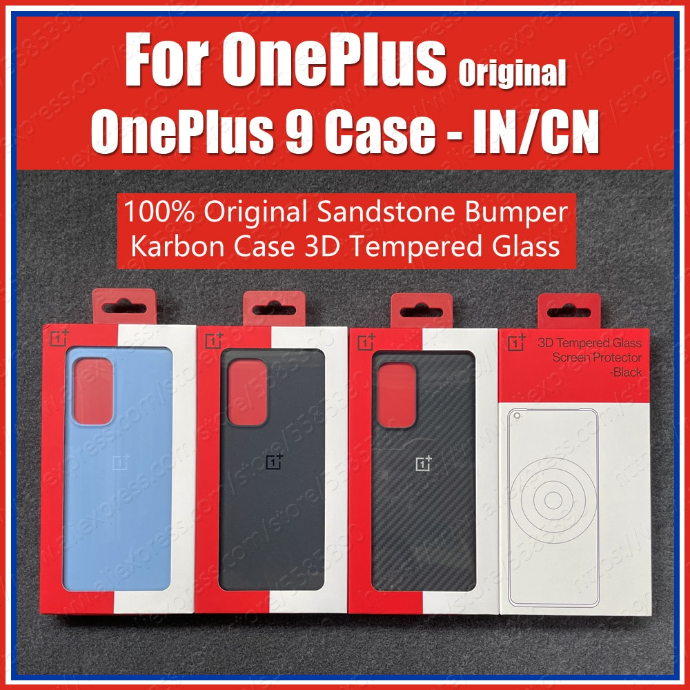 LE2110 Original OnePlus 9 Case IN/CN Version Karbon Carbon Official Protection Hard Covers Sandstone