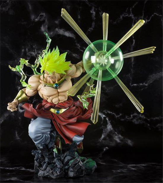Japon Anime Dragon Ball Z Super Saiyan Son Goku Broly les batailles en feu Ver. Figurine en PVC modèle décoration poupée lelakaya