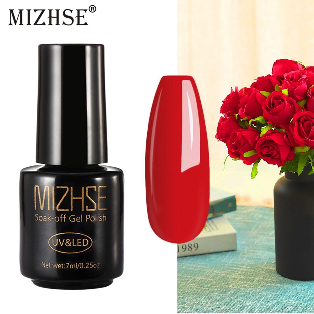 MIZHSE Pure Gel Varnish Rose Wine Red Color Gel Lacuqer UV LED Hybrid Gel Polish Manicure UV Nail Polish Base And Top