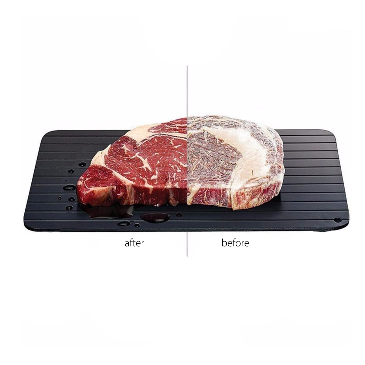 Bandeja de Carne de Descongelação Placa de Descongelação Placa de Bandeja de Segurança Rápida para Frozens Ferramenta de Cozinha de Carne de Alimentos Rápida