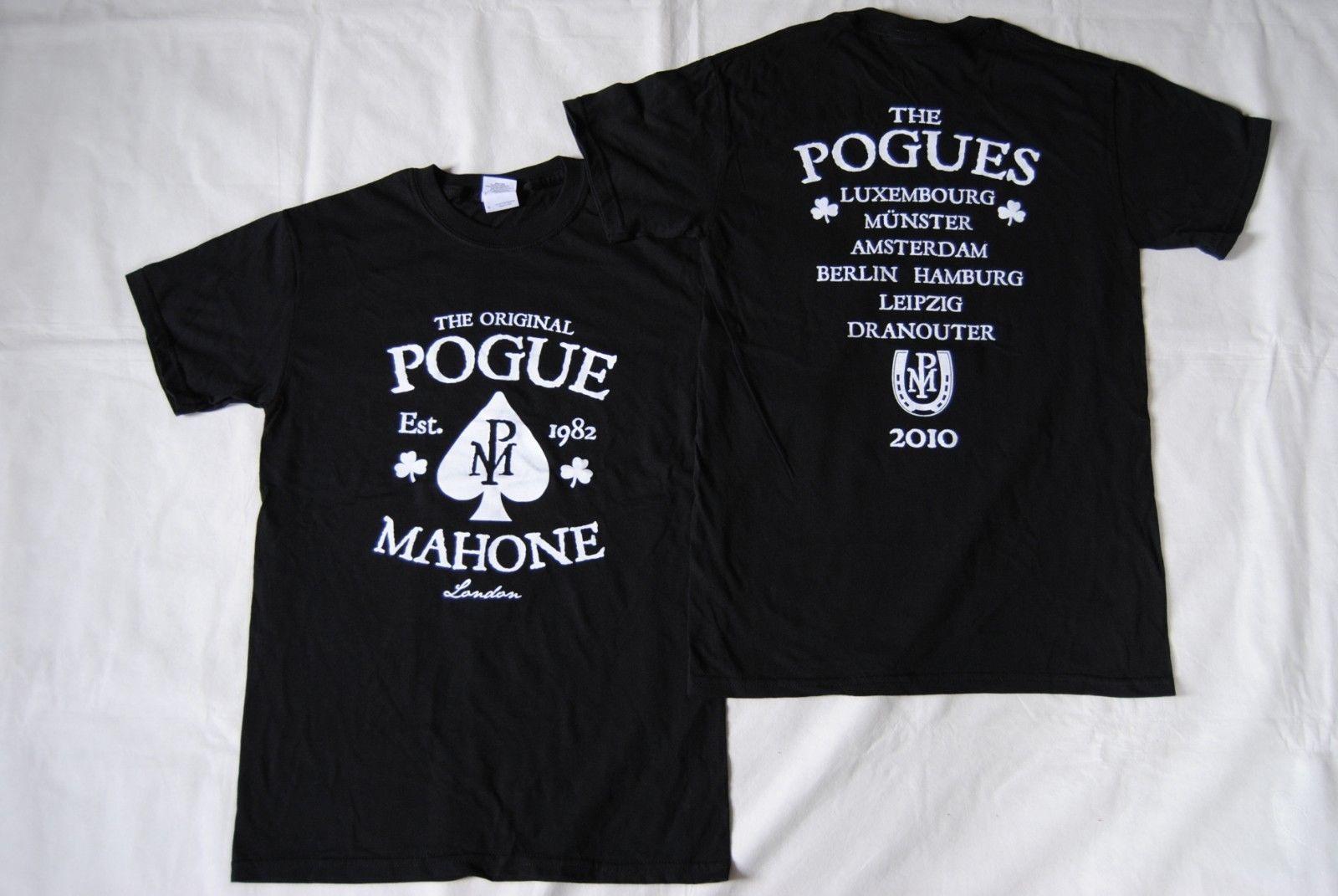 Las Pogues Est 1982 Original Pogue Mahone Tour 2010 nueva camiseta oficial rara Unisex camisetas