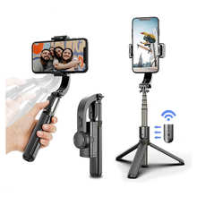 Selfie Stick Tripod 360°Rotation Selfie Stick Stabilizer Portable Gimbal Stabilizer with Remote Control Extendable