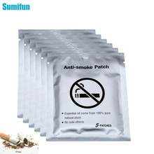 Sumifun 30pcs=6bags Natural Ingredient Stop Quit Patch Anti Smoke  Cessation Pad Chinese Herbal Medi