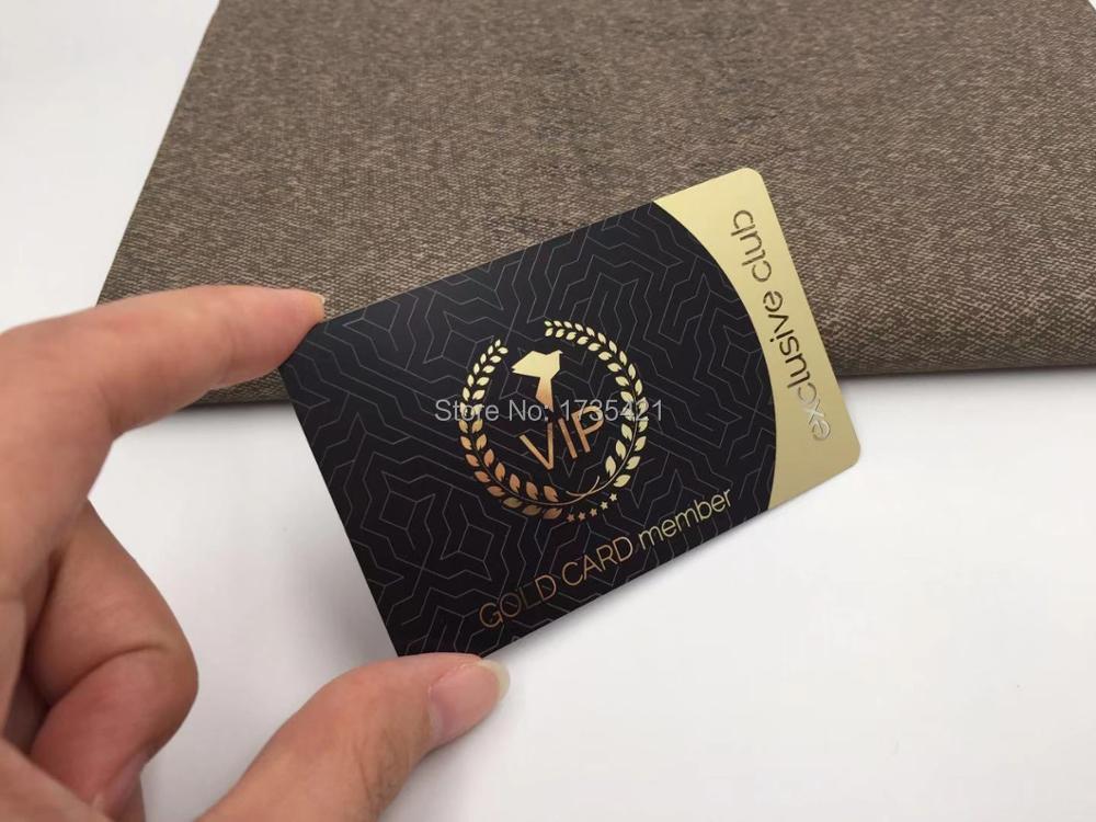 Popular Products Fancy Design Metal Member golden Cards
