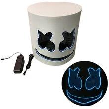 Fabricants vente directe Eva barbe à papa DJ musique balle masque lumineux Marshmello Halloween LED bandeau